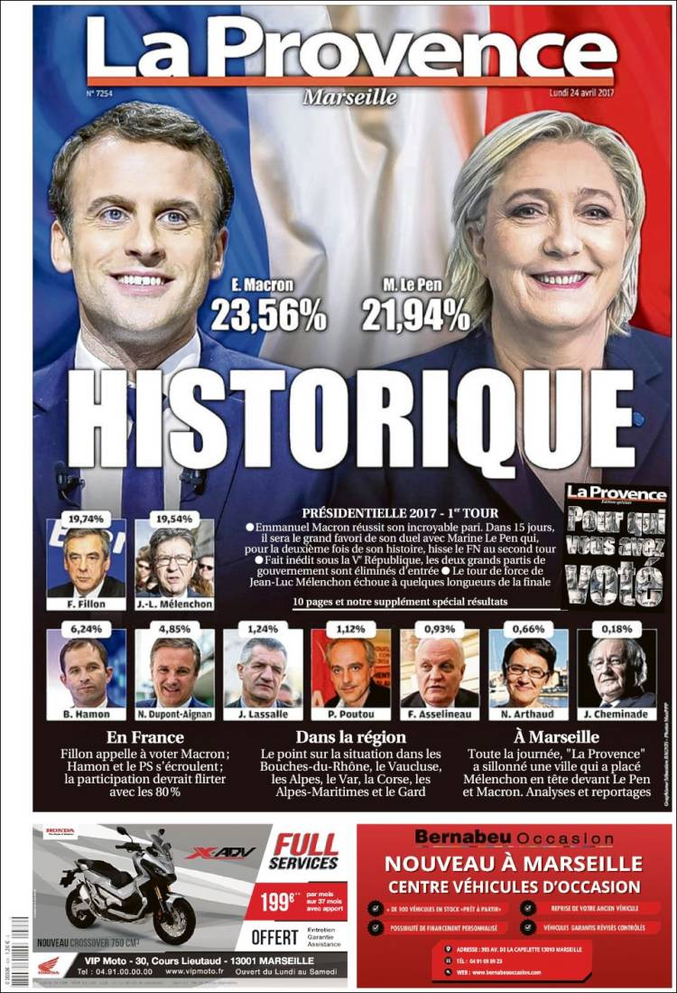 la provence marseille french presidential election 2017 macron le pen