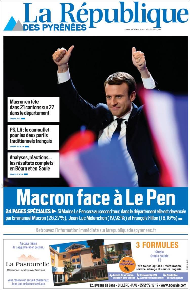 la republique french presidential election 2017 macron le pen