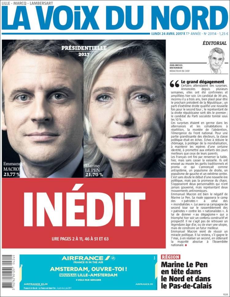la voix french presidential election 2017 macron le pen