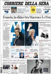 Portada de Corriere della Sera (Italie)