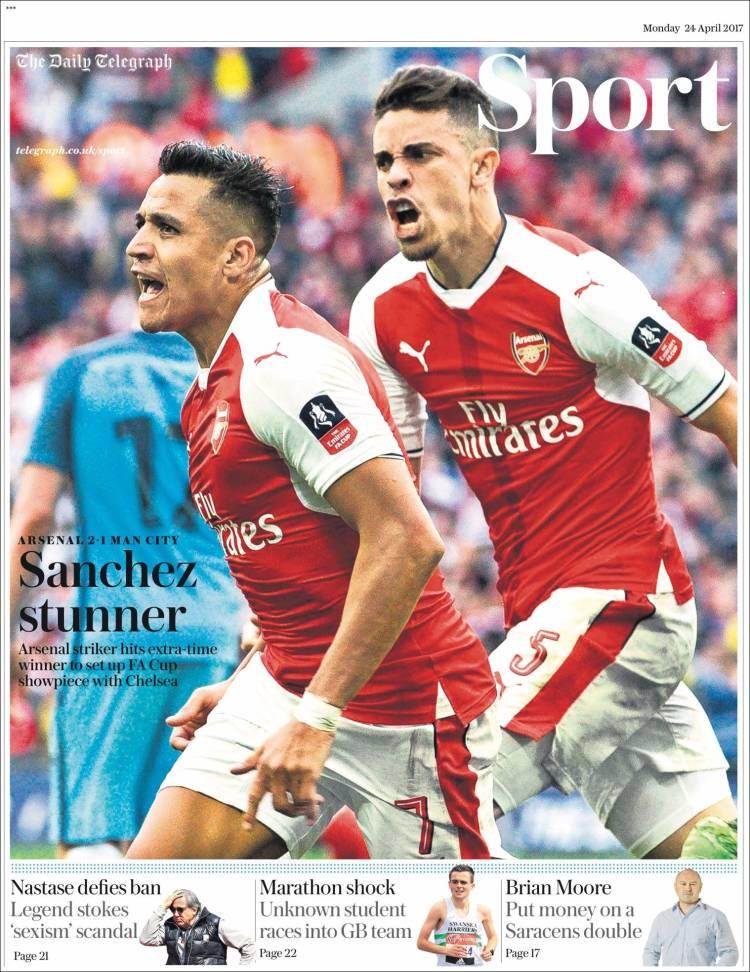 Portada de Telegraph Sport (Royaume-Uni)