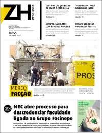 Portada de Zero Hora (Brasil)