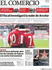 Portada de El Comercio (España)