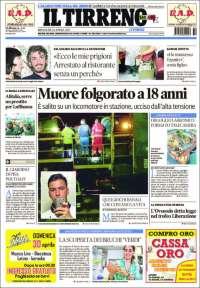 Portada de Il Tirreno (Italy)