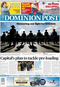 Portada de The Dominion Post (New Zealand)