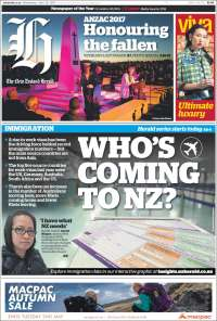 Portada de The New Zealand Herald (New Zealand)