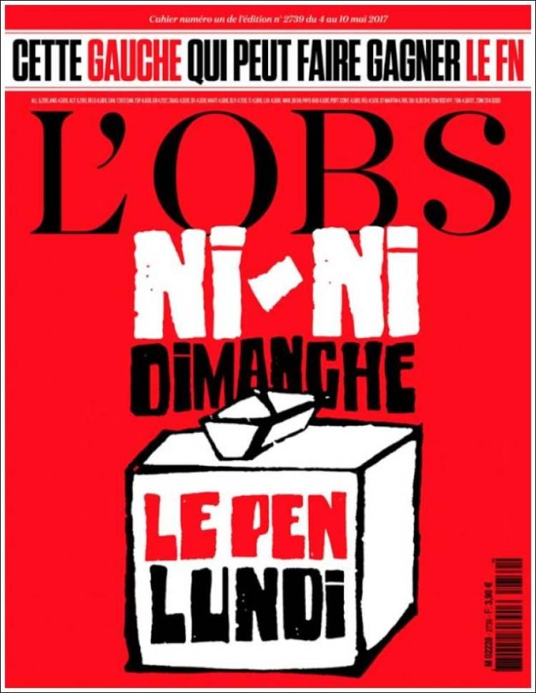 Portada de Le Nouvel Observateur (France)