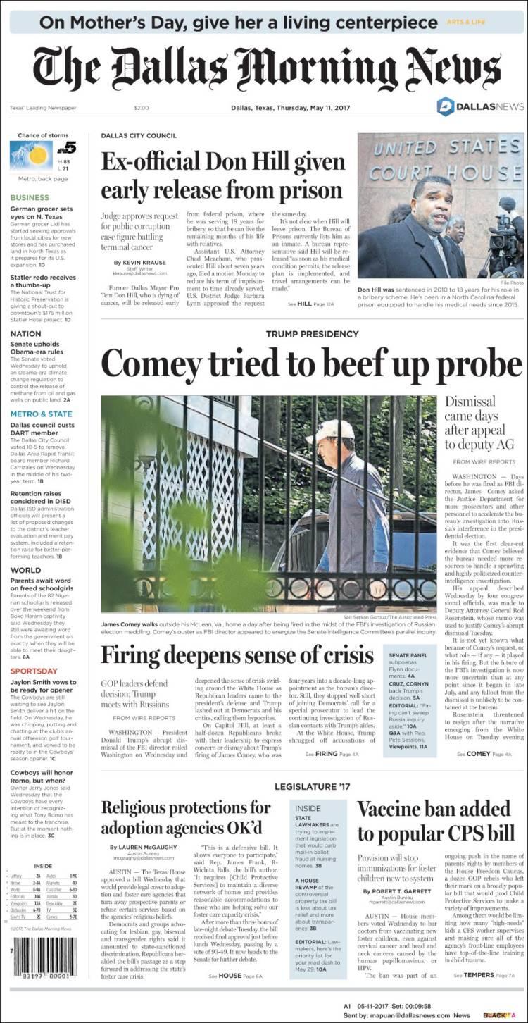 The Dallas Morning News May 11, 2017 MyndighetenePolitikk Myndighetene Politics