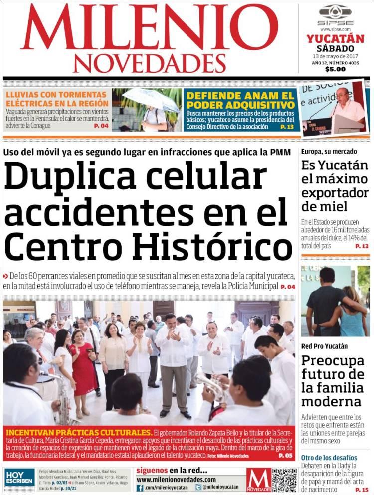 Periódico Milenio Novedades (México). Periódicos de México. Edición ...
