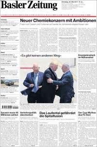 Portada de Basler Zeitung (Suisse)