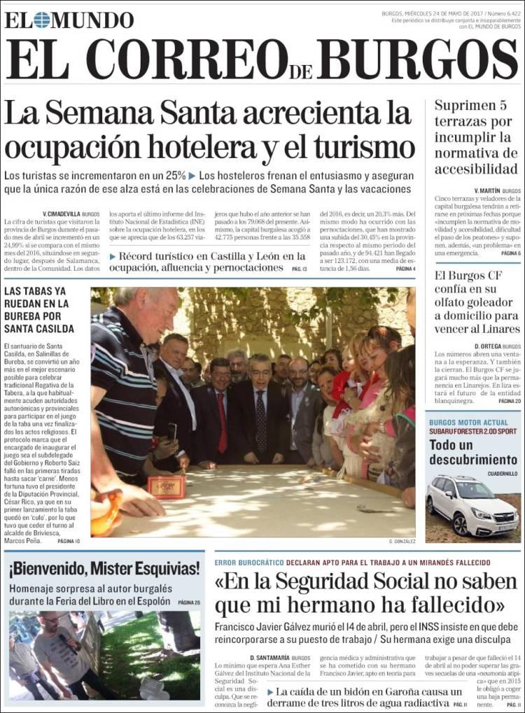 Newspaper El Correo De Burgos Spain Newspapers In Spain