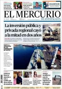 Portada de El Mercurio de Antofagasta (Chile)