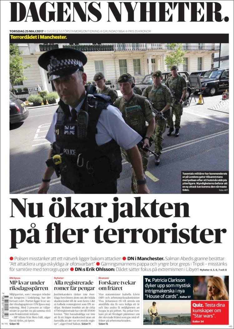 Portada de Dagens Nyheter (Suède)