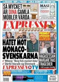 Portada de Expressen (Suède)