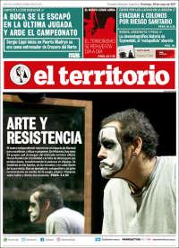 Portada de El Territorio (Argentina)