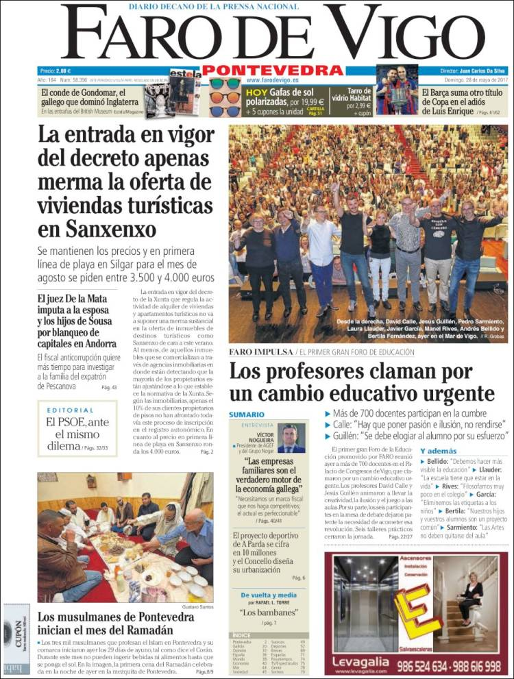 Periódico El Vigo De PontevedraespañaPeriódicos Faro rCtxshQd