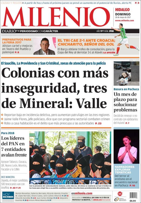 Newspaper Milenio de Hidalgo (Mexico). Newspapers in Mexico ...