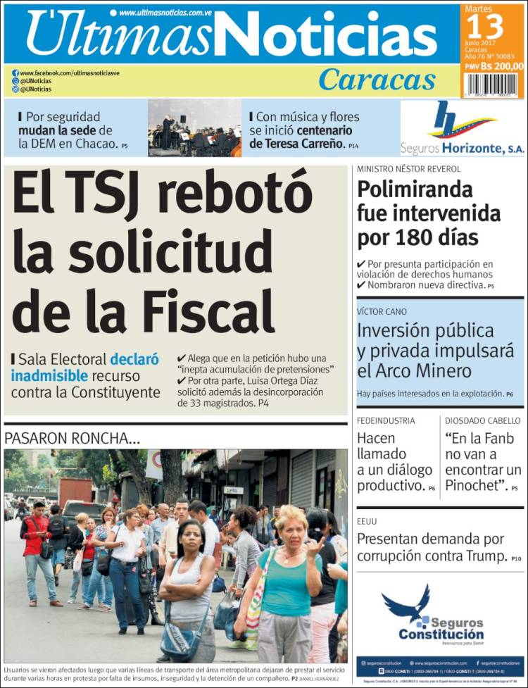 Estas son las portadas de los diarios nacionales e for Ultimas noticias de espectaculos internacionales