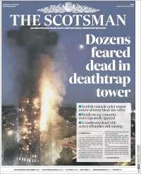Portada de The Scotsman (Royaume-Uni)
