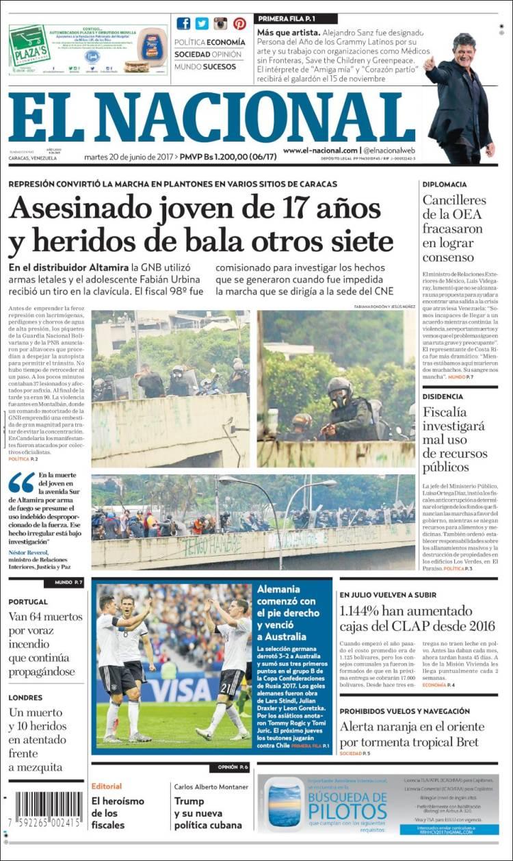 Portada De Diarios Nacionales E Internacionales De Este