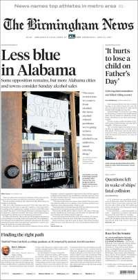 Portada de Birmingham News (États-Unis)