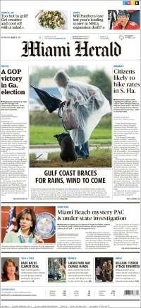 Portada de Miami Herald (États-Unis)