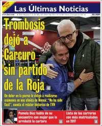 Portada de Las Últimas Noticias (Chili)