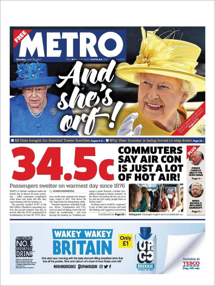 Portada de Metro (Royaume-Uni)