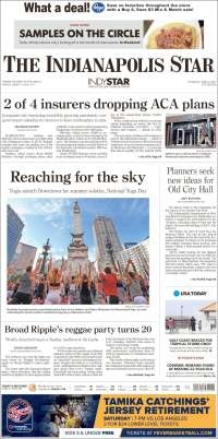 Portada de The Indianapolis Star (États-Unis)