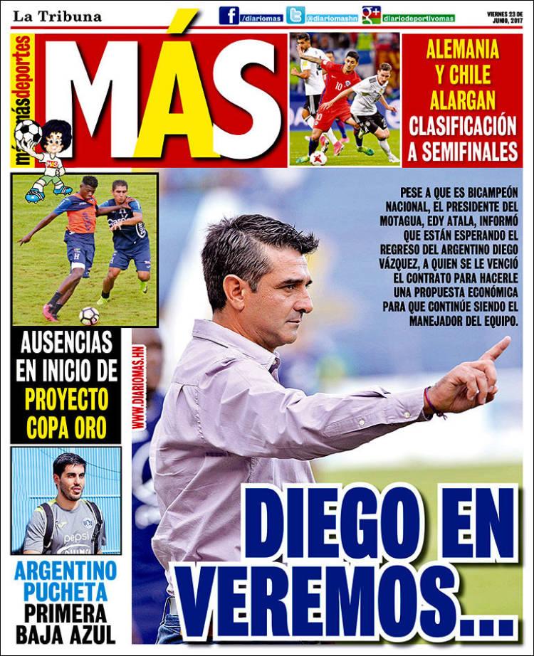Portada de Diario Más (Honduras)