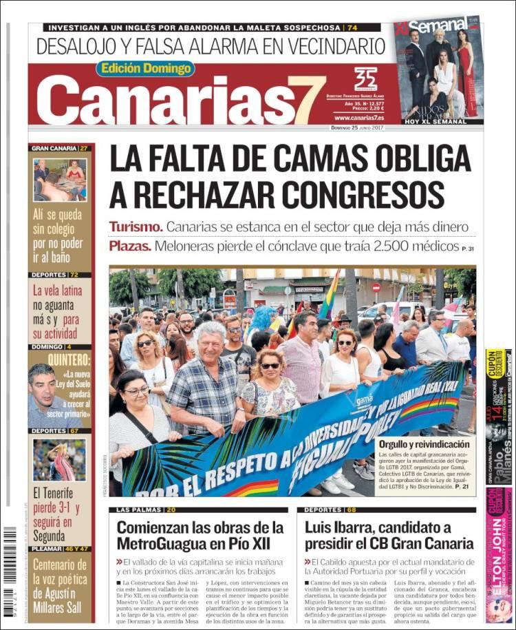Portada de Canarias 7 (España)