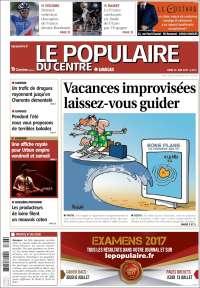 Portada de Le Populaire du Centre (France)