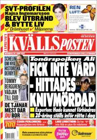 Portada de Kvällsposten (Suède)