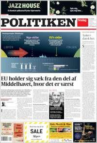 Portada de Politiken (Danemark)