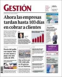 Portada de Diario Gestión (Perú)