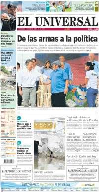 Portada de El Universal (Colombie)