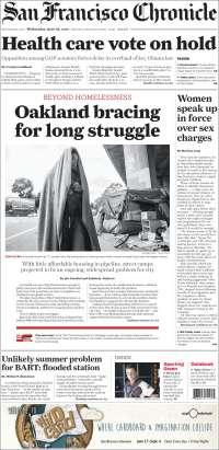 Portada de San Francisco Chronicle (États-Unis)