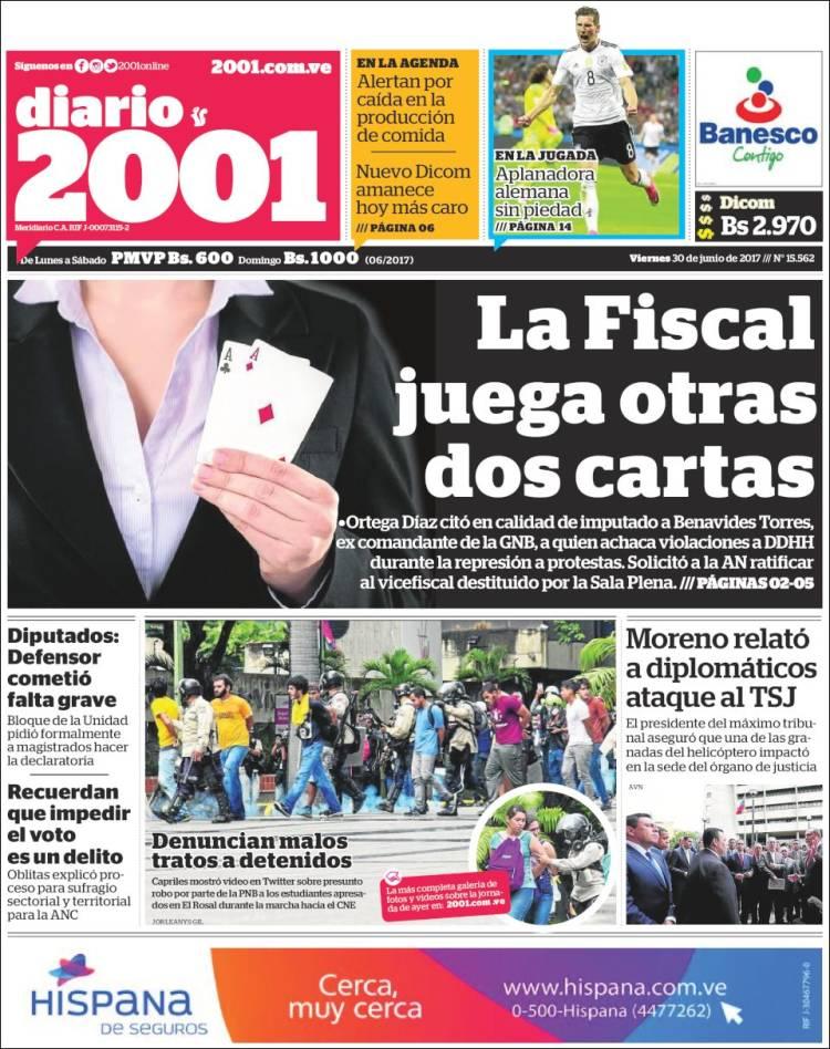 Portada De Diarios Nacionales E Internacionales 30jun