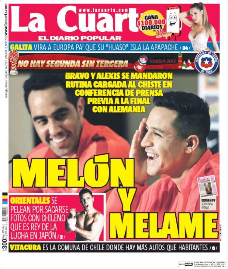 Periódico La Cuarta (Chile). Periódicos de Chile. Edición de sábado ...