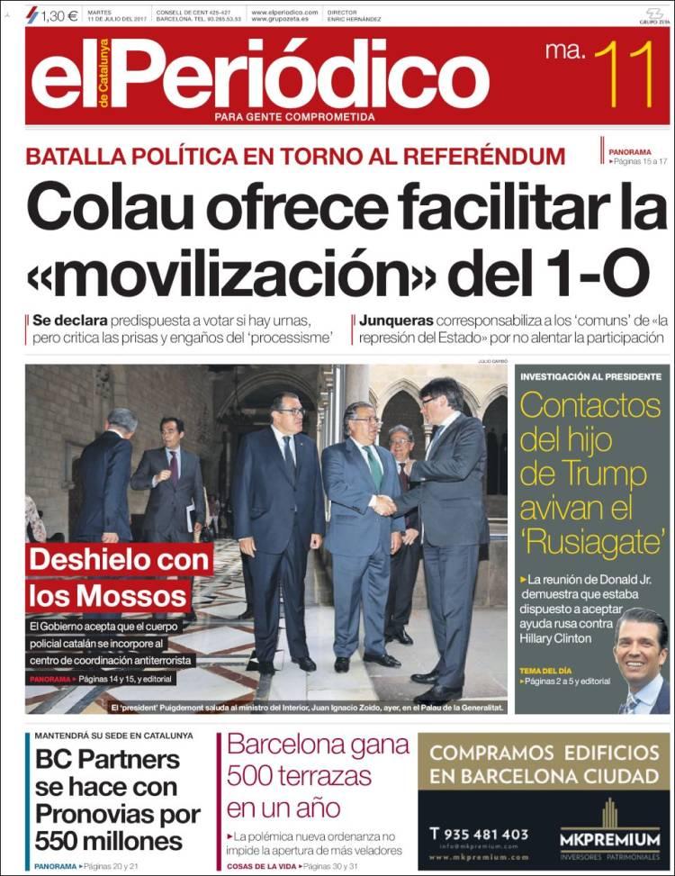 Periódico El Periódico De Catalunya España Periódicos De