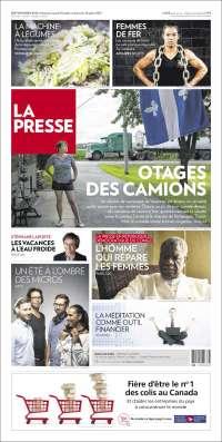 Portada de La Presse (Canada)
