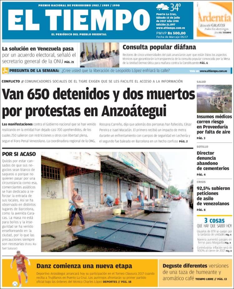 As Titulan Los Peri Dicos Que Circulan En Venezuela Este