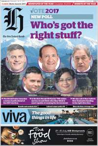 Portada de The New Zealand Herald (Nouvelle-Zélande)