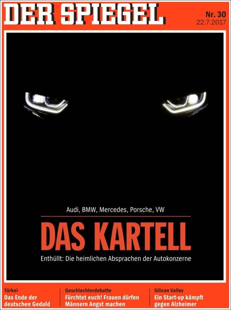 Portada de Der Spiegel (Allemagne)