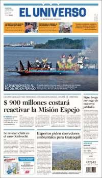 Portada de El Universo - Ecuador (Équateur)