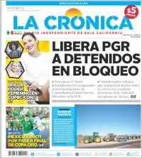 Portada de La Crónica de Baja California (Mexique)