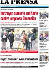 Portada de La Prensa (Chili)