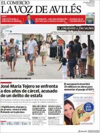 Portada de El Comercio - Avilés (España)