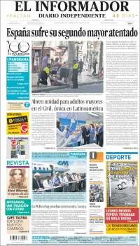 Portada de El Informador (Mexico)
