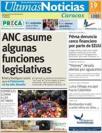 Portada de Últimas Noticias (Venezuela)